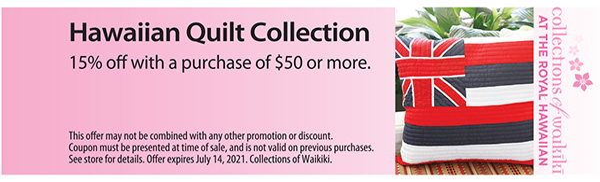 Hawaiian Quilt Collection Coupon