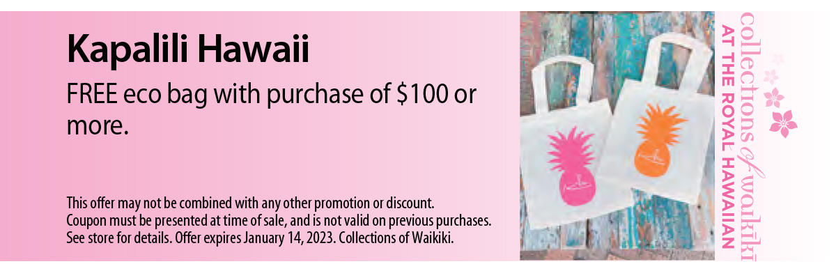 Kapalili Hawaii Coupon