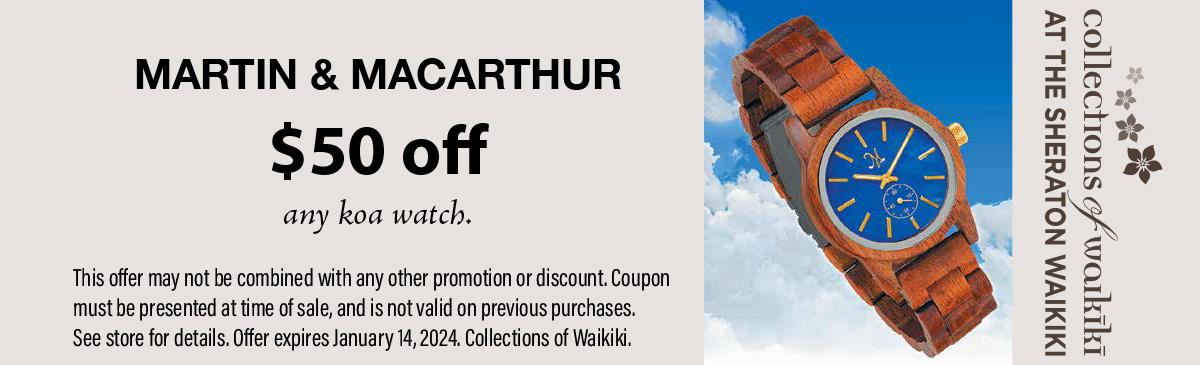 Martin & MacArthur Sheraton Waikiki Coupon