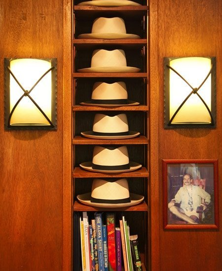 a selection of the Montecristi Panama Hats at Newt at The Royal