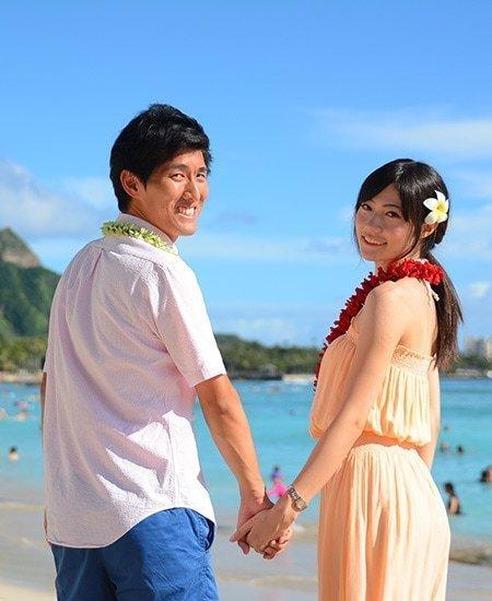 Wedding couple in Hawaii