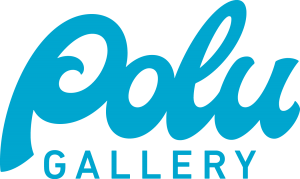 Polu Gallery logo in blue